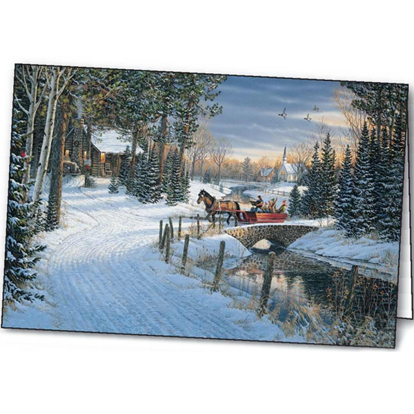 Holiday Sleigh Ride - Holiday Greeting Card Photo