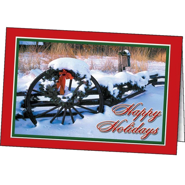 Snowy Holiday - Holiday Greeting Card Photo