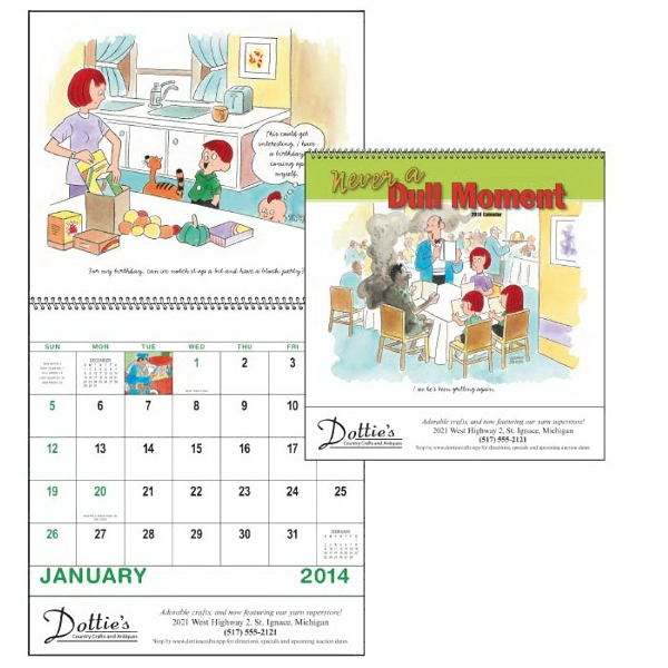 Spiral, 13-month 2014 Calendar With Cartoons Depicting The Joys Of Raising Children Photo