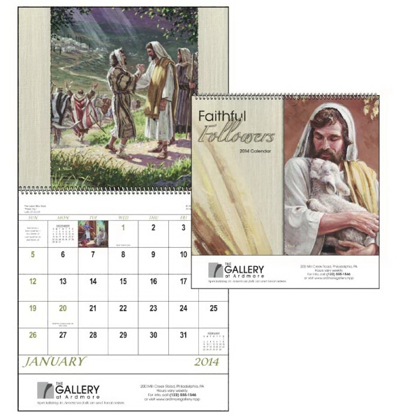 Spiral, 13-month 2015 Calendar With Images Of Familiar Bible Stories Photo
