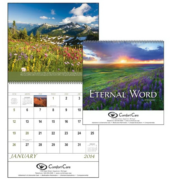 Spiral, 12-month 2015 Calendar With Verses From The Bible Photo