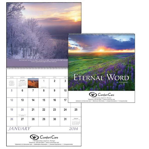 Spiral, 13-month 2015 Calendar Features Verses From The Bible Photo
