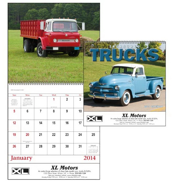 Spiral, 13-month 2015 Calendar With Photos Of Treasured Trucks From Years Gone By Photo