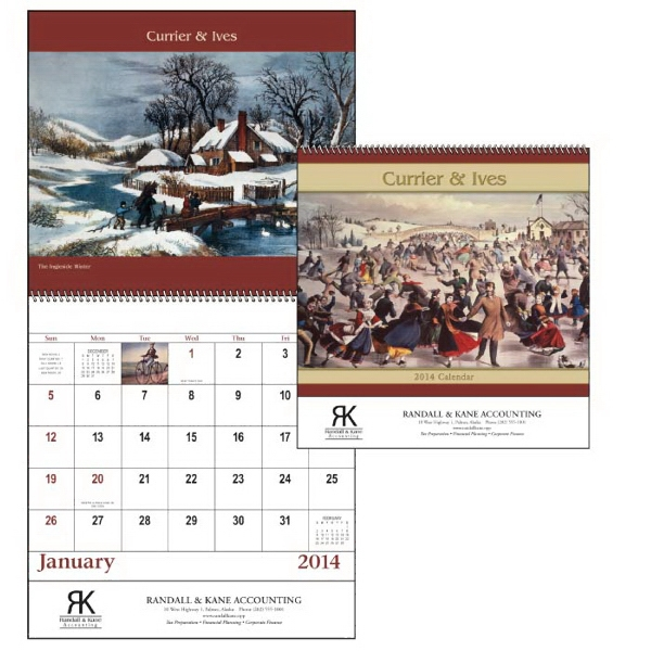 Currier & Ives - Spiral, 13-month 2015 Calendar With Cherished Images Photo