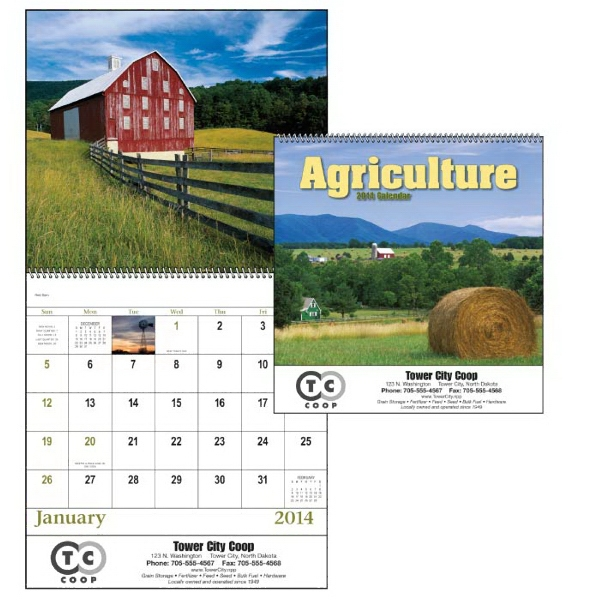 Spiral,13-month 2015 Calendar With Images Portraying Abundant Fields And Quiet Beauty Photo