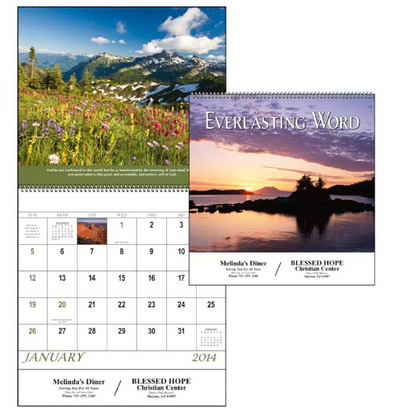 Spiral 12-month 2015calendar With Funeral Pre-planning Form And Bible Verses Photo