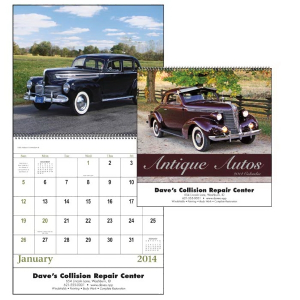 Spiral, 13-month 2015 Calendar With Photos Of Classic, Elegant Autos Photo