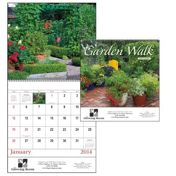 Spiral, 13-month 2015 Appointment Calendar With Eye-catching Garden Images Photo