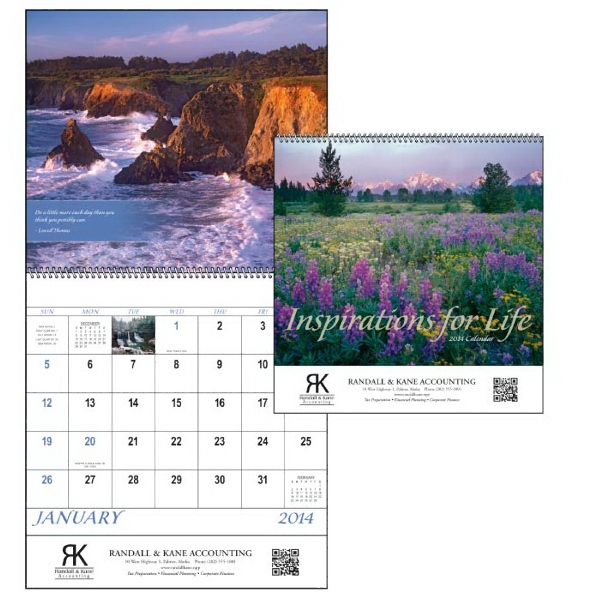 Spiral, 13-month 2015 Calendar With Spectacular Scenes And Inspirational Quotes Photo