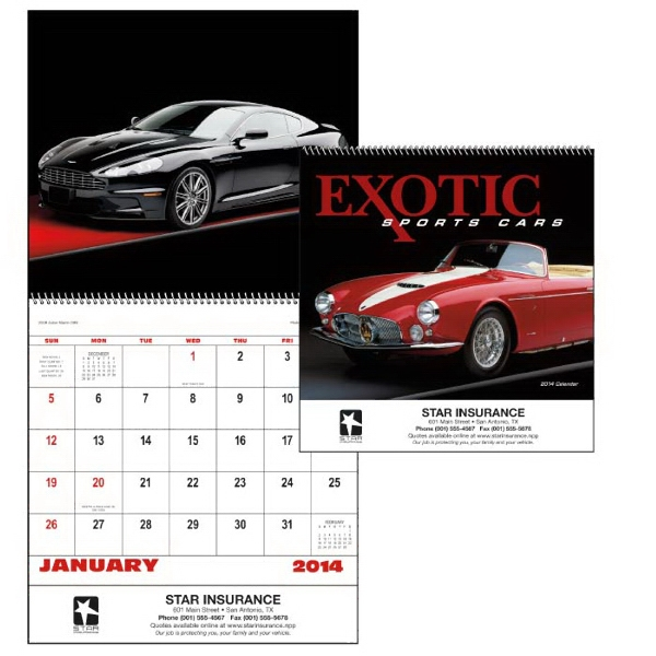 Spiral, 13-month 2015 Calendar With Photos Of Exotic Sports Cars Photo