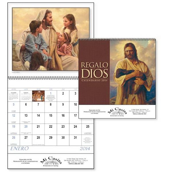 Spanish Version, 2015, 12-month, Calendar With Funeral Pre-planning Form Photo