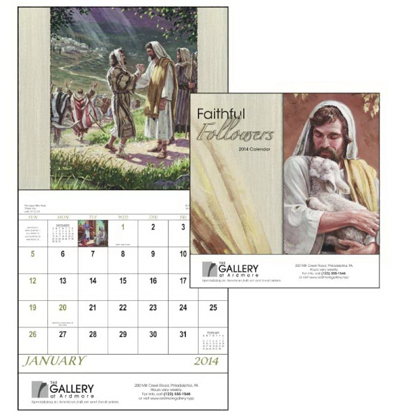 Stapled, 13-month 2015 Calendar With Images Of Familiar Bible Stories Photo