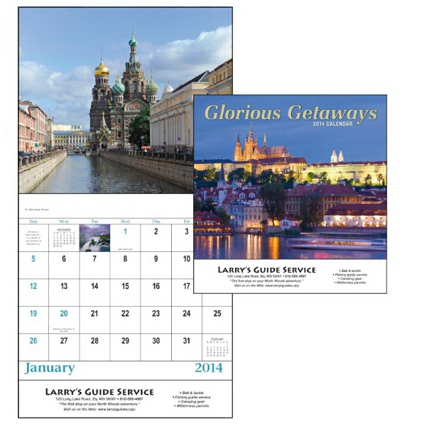 Stapled, 13-month 2015 Calendar With Images Of Exotic Locations Around The World Photo