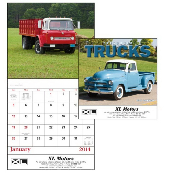 Stapled, 13-month 2015 Calendar With Photos Of Trucks Photo