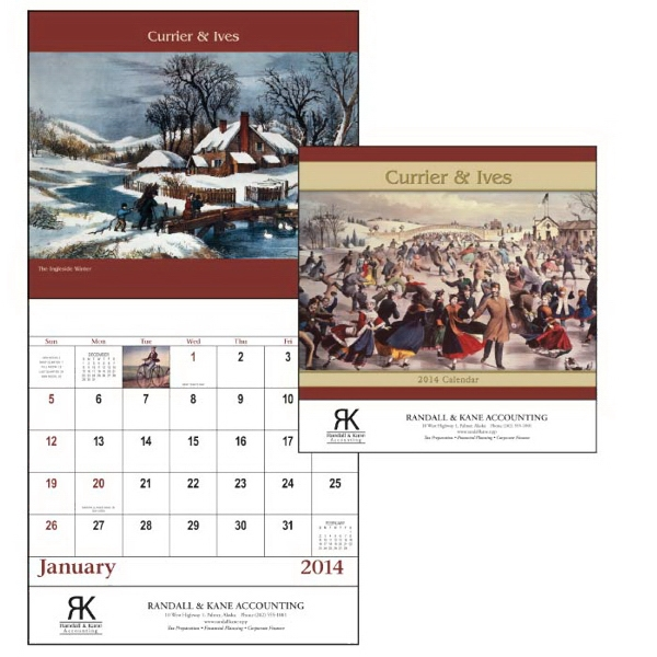 Currier & Ives - Stapled 13-month 2015 Calendar With Images From America's Favorite Illustrators Photo