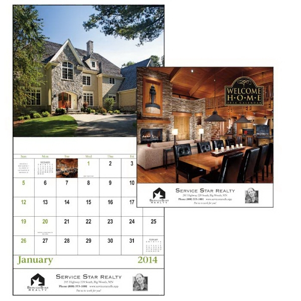 Stapled, 13-month 2015 Calendar With Photos Of Gorgeous Homes Photo