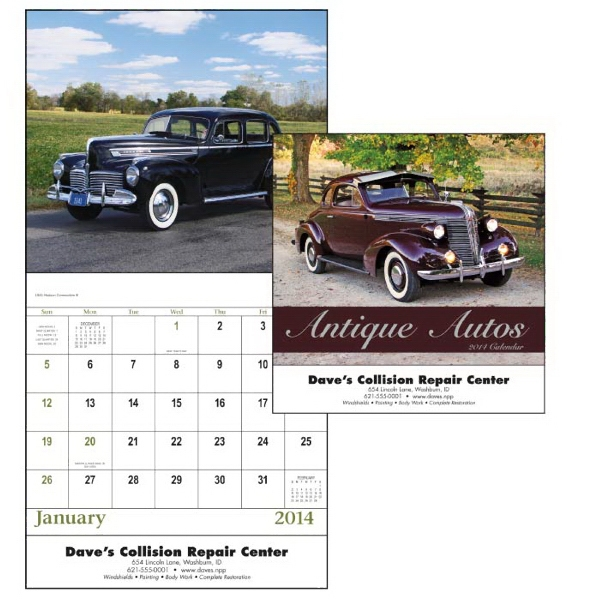Stapled, 13-month 2015 Calendar With Images Of Classic, Elegant Autos Photo