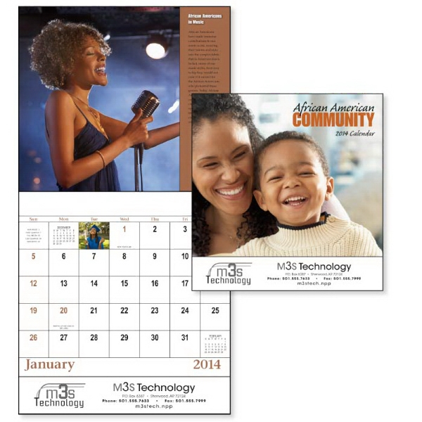 Stapled, 13-month 2015 Calendar With Accomplishments Of African-americans Photo