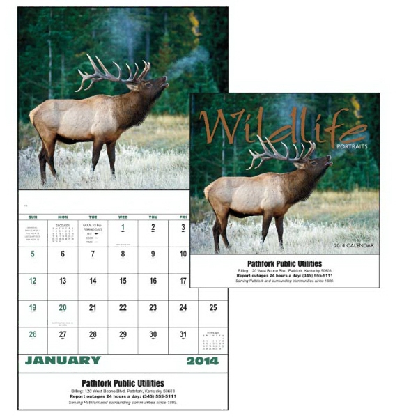 Stapled, 13-month 2015 Calendar With Striking Photos Of Wild Animals Photo