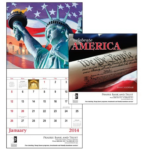 Stapled, 13-month 2015 Calendar Filled With Patriotic Spirit Photo
