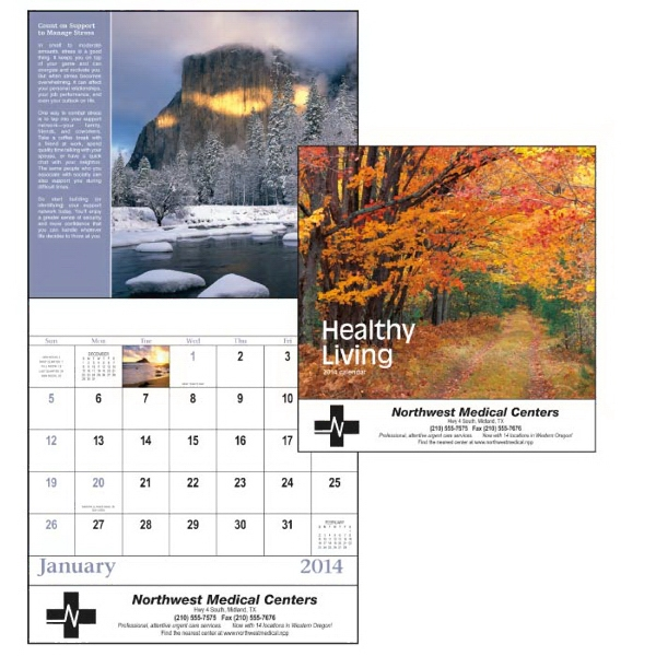 Stapled, 13-month 2015 Calendar With Lifestyle And Health Tips Photo
