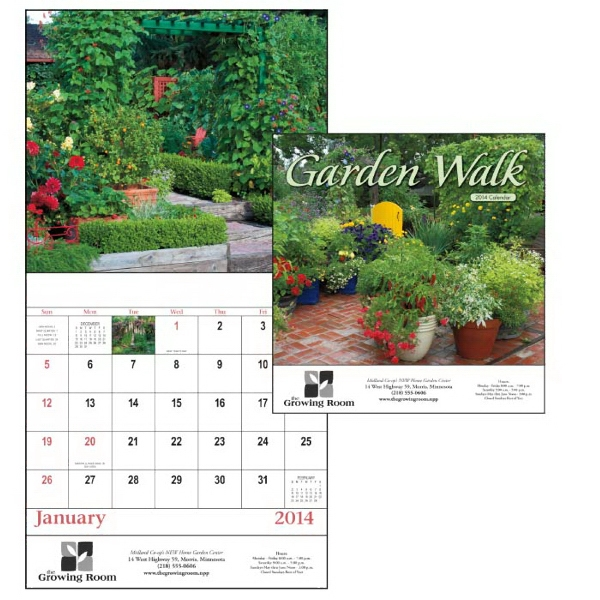 Stapled, 13-month 2015 Appointment Calendar With Eye-catching Garden Images Photo