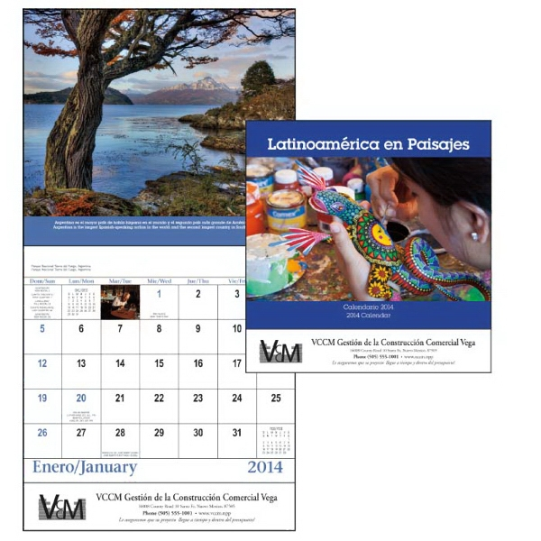 Latinoamerica En Paisajes - Stapled 13-month 2015 Appointment Calendar With Scenic Journey Of Latin America Photo