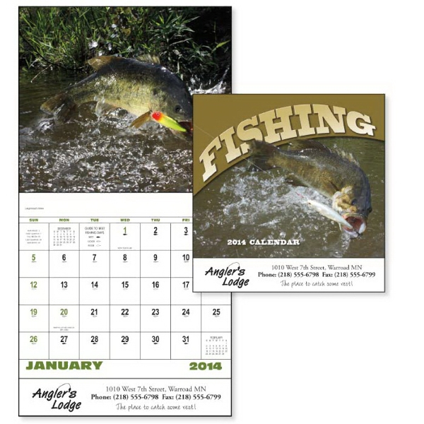 Stapled, 13-month 2015 Calendar With Fishing Photos Photo