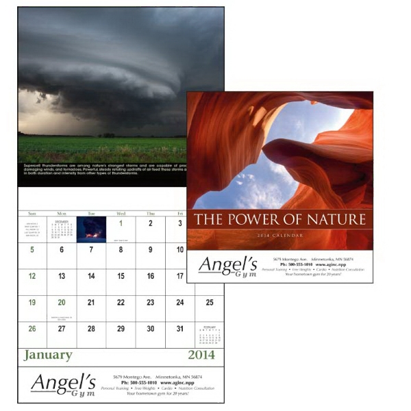 Stapled, 13-month Scenic 2015 Calendar With Dynamic Images To Grab Attention! Photo