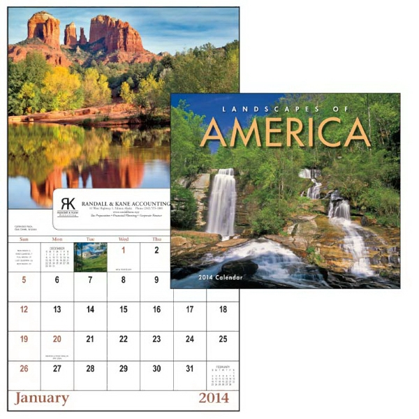 Landscapes Of America - 13-month 2015 Window Calendar With Beautiful Landscapes From America Photo