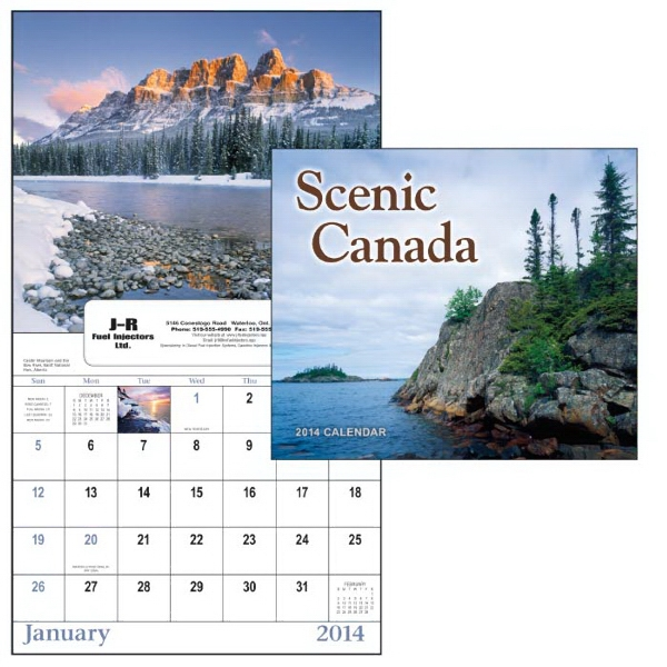 Scenic Canada - 13-month Scenic 2015 Window Calendar With Canadian Landscapes Photo