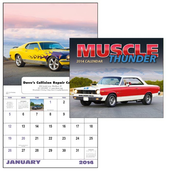 13-month Window 2015 Calendar Showcasing Muscle Cars Photo