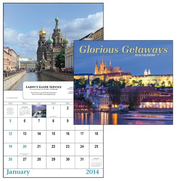 13-month Scenic Window 2015 Calendar With Exotic Locations From Around The World Photo