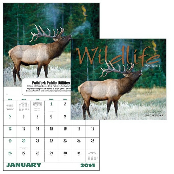 13-month Window 2015 Calendar With Striking Photos Of Wild Animals Photo