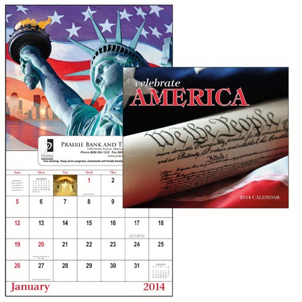 13-month Window 2015 Calendar Filled With Patriotic Spirit Photo