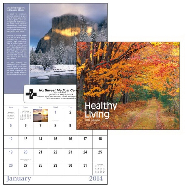 13-month Window 2015 Calendar With Natural Wonder Images And Healthy Living Tips Photo