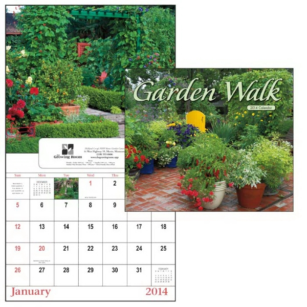 13-month 2015 Window Appointment Calendar With Eye-catching Garden Images Photo