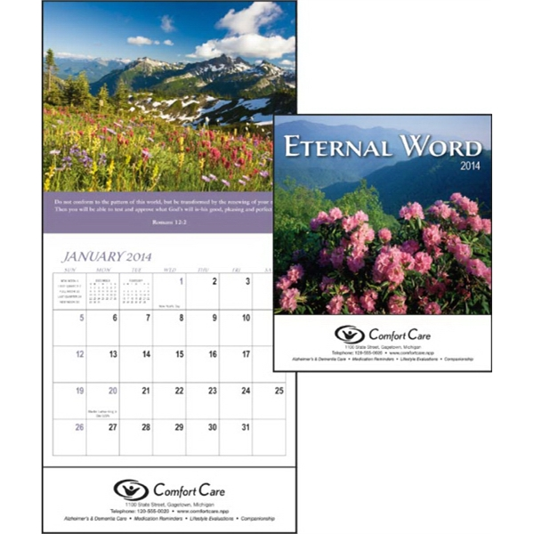 2015 Mini 12-month Calendar Features Bible Verses Photo