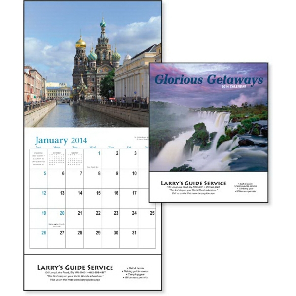 2015 Mini, 12-month Calendar With Captivating Photos Of Vacation Destinations Photo
