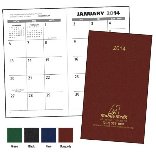 2015 Value Monthly Pocket Planner With Spacious, Vertical Monthly Grid Photo
