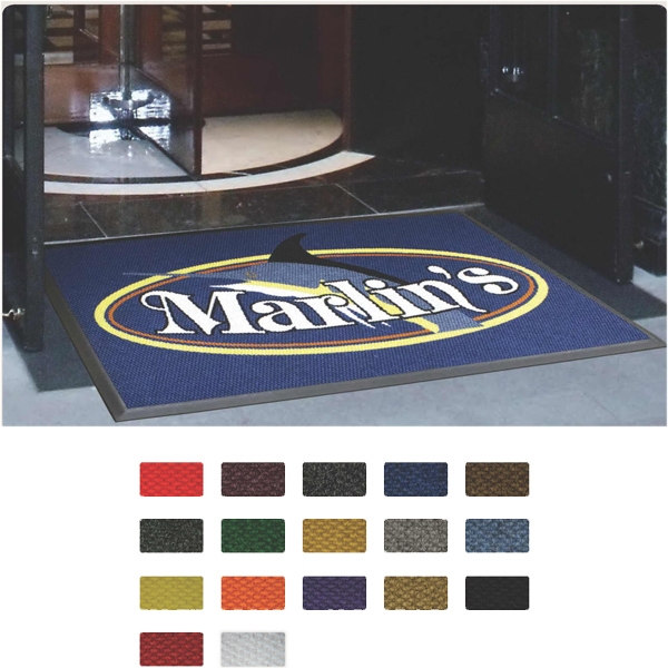 Berber (TM) Logo High Traffic, Indoor and Outdoor Mat - High traffic indoor and outdoor logo mat with latex backing