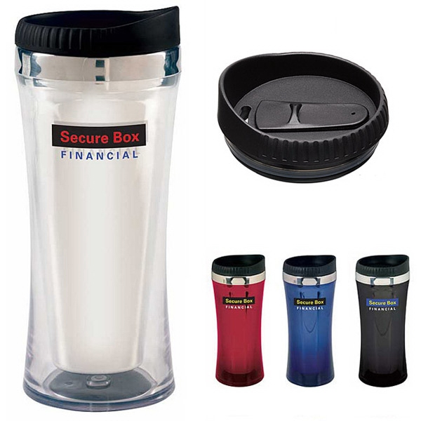 Insulated, Acrylic Tumbler With Slider Leak Resistant Lid, 16 Oz Photo