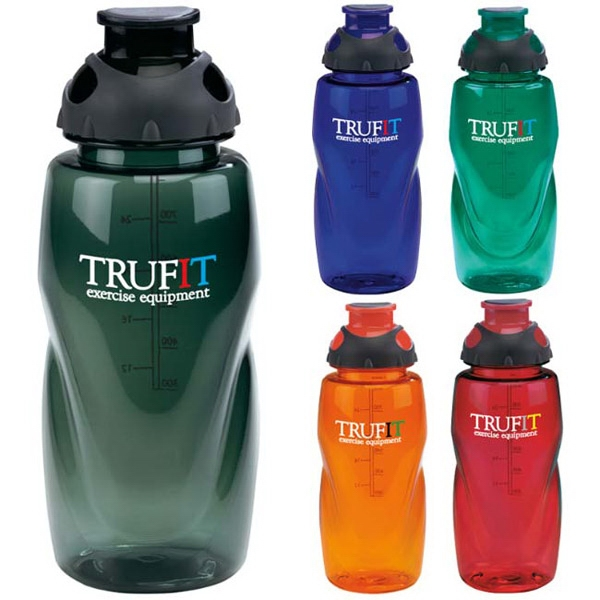 Sport Bottle With Flip Top Drink-thru Lid And Standard Ounce Chart Photo