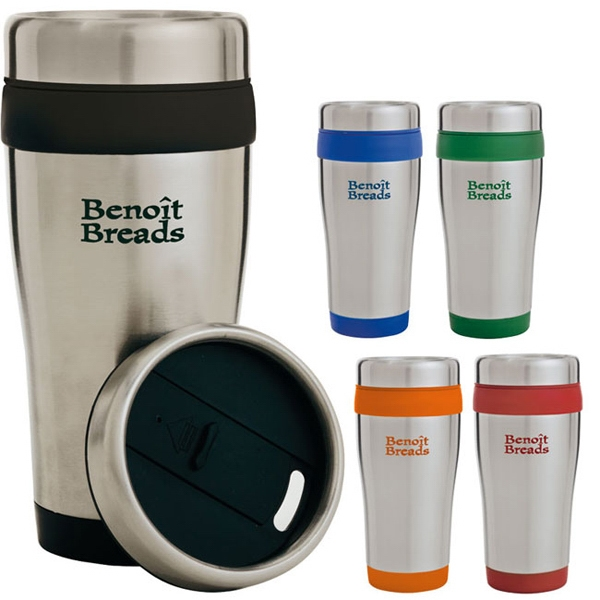Color Band Travel Tumbler - 14 oz