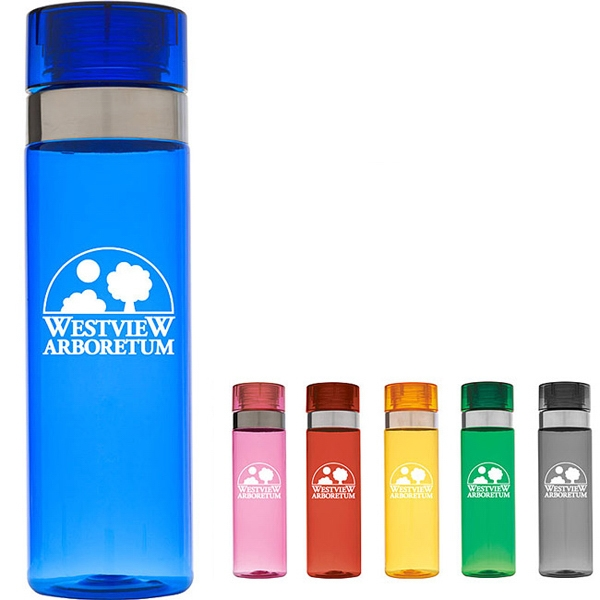 Sports Bottle with Metallic Ring - 28 oz