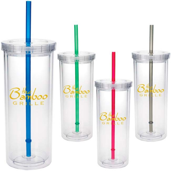 Tall Tumbler with Straw - 16 oz