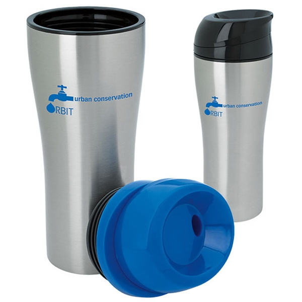 Stainless Tumbler with Sliding Lid - 15 oz