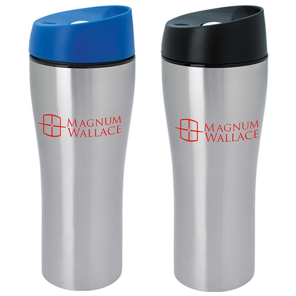Stainless Tumbler with Press Button Lid - 15 oz