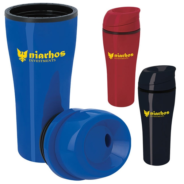 Acrylic Tumbler with Sliding Lid - 15 oz