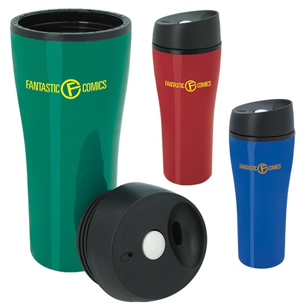 Acrylic Tumbler with Press Button Lid - 15 oz